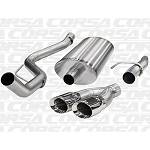 "2011-2014 Ford F-150 F-150 6.2L V8 3.0"" Corsa Cat-Back Single Side Exit with Twin 4.0"" Polished Tips"