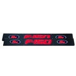 2009-2014 Ford F150 Billet Aluminum Door Sill / Kick Plate (2pc Kit Fits Driver & Front Passenger Side Doors Only) in Black Finish - F150 & Ford Logo in RED ILLUMINATION
