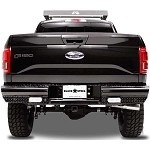 Fab Fours Black Steel Rear Bumper for 2015-2016 Ford F-150