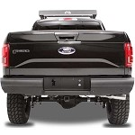 Fab Fours Black Steel Elite Rear Bumper for 2015-2016 Ford F-150