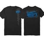2014 MorePowerTuning / MPT Performance Blue Checkered Logo, Black T-Shirt