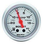 AutoMeter - Ultra-Lite 52mm 20 PSI Mechanical Boost Gauge