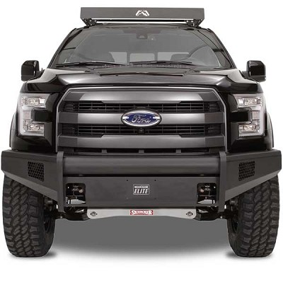 Fab Fours Black Steel Elite Front Bumper for 2015-2016 Ford F-150