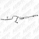 "2015 Ford F150 V8 5.0L - MBRP 2 1/2"" Dual Split Rear Exit Cat Back Exhaust"