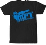 2014 MorePowerTuning / MPT Performance Blue Bazooka Logo, Black T-Shirt