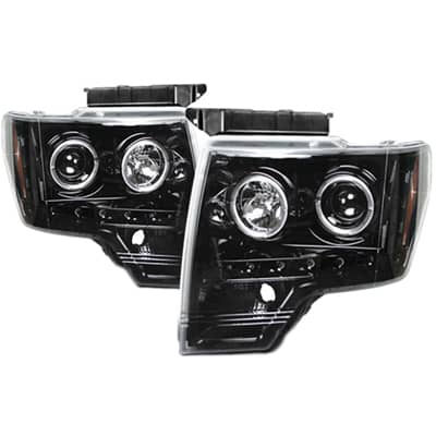 2009-2014 Ford F-150 RECON Projector Headlights - Smoked/Black