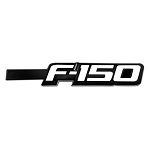 2009-2014 Ford F150 Illuminated Emblems 2-Piece Kit Includes Driver & Passenger Side Fender Emblems in Black - F150 in WHITE ILLUMINATION
