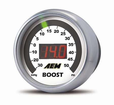 AEM Digital Boost Gauge - 30InHg to 35PSI - 52mm