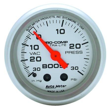 AutoMeter - Ultra-Lite 52mm 30 PSI Mechanical Boost/Vac Gauge