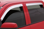 AVS Ventvisor 4PC 2004-2014 Ford F150 SuperCab Window Deflectors (Chrome)