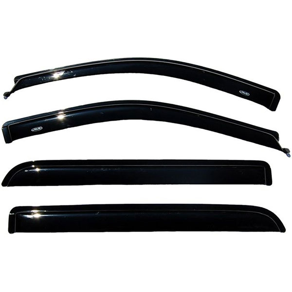 AVS Ventvisor 4PC 2004-2008 Ford F150 Super Crew / Crew Cab Side Window Deflectors (Smoke)