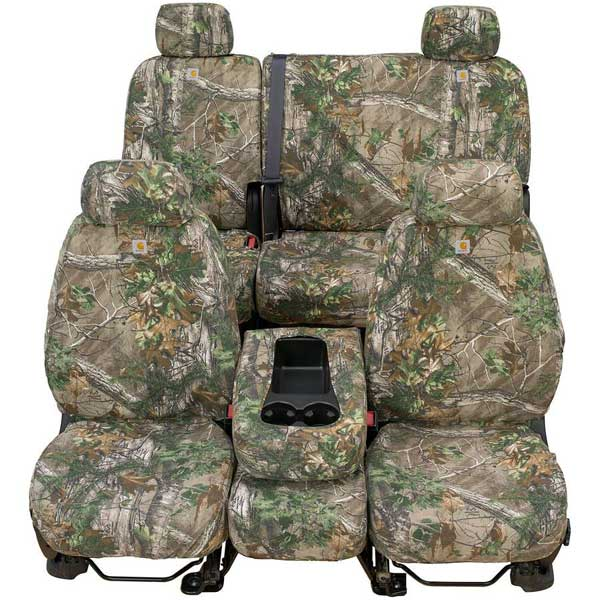 Cool Covercraft Carhartt Custom Realtree Camo Seat Covers First Row 40 20 40 For 2011 2014 Ford F 150 Cjindustries Chair Design For Home Cjindustriesco