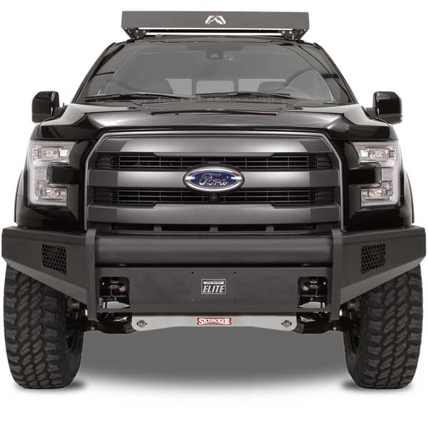 Fab Fours Black Steel Elite Front Bumper for 2009-2014 Ford F-150
