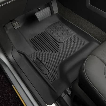 Husky Floor Mats >> 2015 2017 Ford F150 Husky Liners X Act Contour Front Floor Liner Mats Black