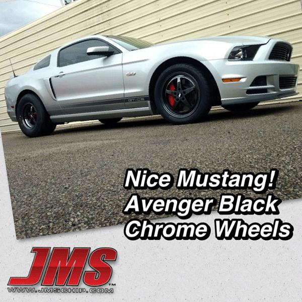 Jms Avenger 17 X 10 Black Chrome Wheel Mpt Performance