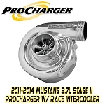 ProCharger Stage II Intercooled P-1SC-1 Tuner Kit -11-14 Mustang 3.7L