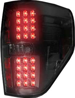 2009-2014 Ford F-150 RECON - Smoked/Black LED Tail Lights