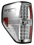 2009-2014 Ford F-150 RECON - Chrome/Clear LED Tail Lights