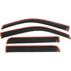 AVS In-Channel Ventvisors 2009-2013 Ford F150 Super Crew Side Window Deflectors (Smoke)