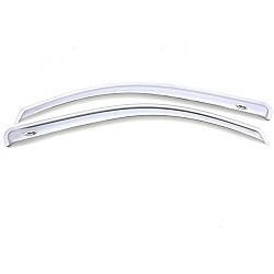 AVS Ventvisor 2PC 2004-2014 Ford F150 SuperCrew Window Deflectors (Chrome)