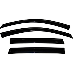 AVS Ventvisor 4PC 2009-2014 Ford F150 Super Crew Side Window Deflectors (Smoke)