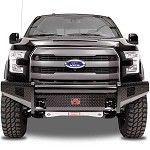 Fab Fours Black Steel Front Bumper for 2015-2016 Ford F-150
