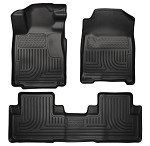 Husky Liners WeatherBeater Front and 2nd Seat Liners for 2010-2014 Ford Mustang (Footwell Coverage)