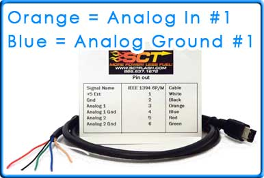 How to wire AEM UEGO 30 4100 to SCT Tuner using Analog