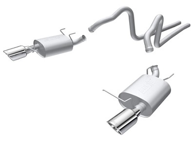2011-2014 Mustang 3.7L V6 - Borla S-Type T304 Stainless Steel Cat Back Exhaust