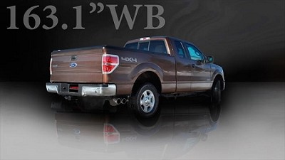 "2011-2014 Ford F150 Ecoboost 3.5L Corsa Performance 3"" Stainless-Steel Single-Side-Exit Exhaust w/ Twin 4"" Polished Tips"