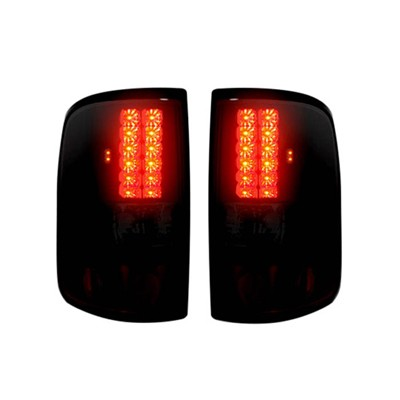 "2004-2008 Ford F150 Straight aka ""Style"" Side LED TAIL LIGHTS - Dark Red Smoked Lens"