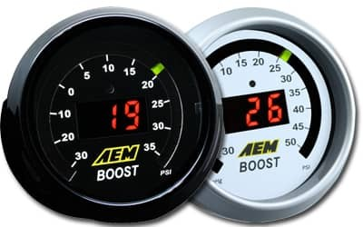 AEM Digital Boost Gauge - 30InHg to 35PSI - 52mm