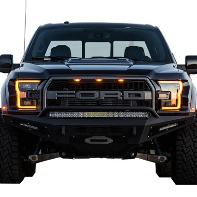 Addictive Desert Designs Honeybadger Winch Front Bumper for 2017 Ford Raptor F117382860103