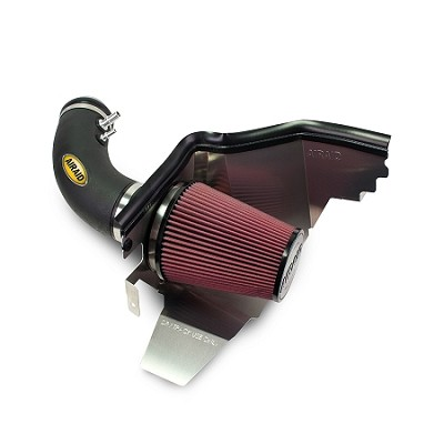 2015 Ford Mustang V6 3.7L - AIRAID Race-Style Cold Air Dam Intake (Oiled Red Filter)