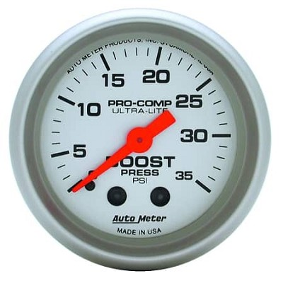 AutoMeter - Ultra-Lite 52mm 35 PSI Mechanical Boost Gauge