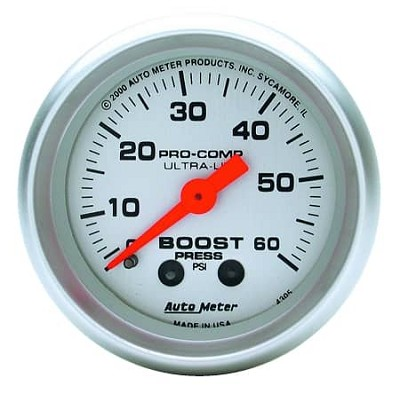 AutoMeter - Ultra-Lite 52mm 60 PSI Mechanical Boost Gauge