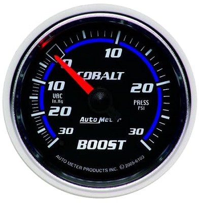 AutoMeter - Cobalt 52mm 30 PSI Mechanical Boost/Vac Gauge