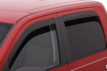 AVS Low-Profile Ventvisor 4PC 2009-2014 Ford F150 Super Crew Window Deflectors (Smoke)