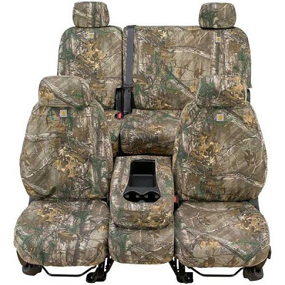 Covercraft Carhartt Custom Realtree Camo Seat Covers (First Row, 40/20/40) for 2011-2014 Ford F-150
