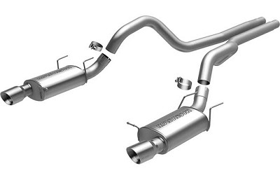 "2013-2014 Mustang GT - Magnaflow Street Series 3"" Stainless Steel Cat Back Exhaust"