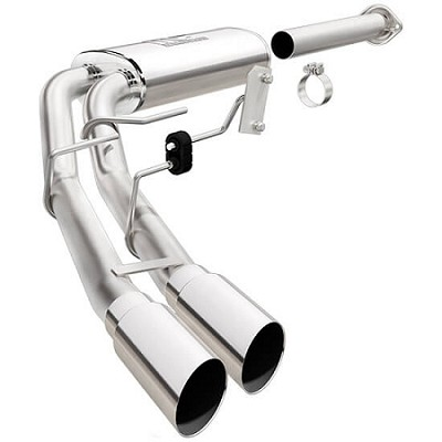 "2015-2017 F150 Magnaflow Stainless Steel 2.25"" / 3"" Cat-Back System Dual Same Side Exit"