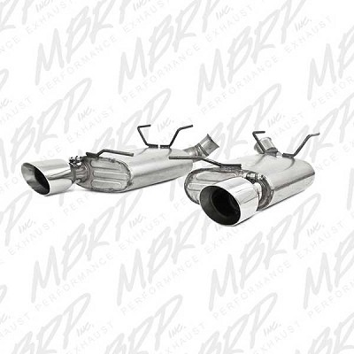 2011-2014 Ford Mustang V6 3.7L MBRP Installer Series Dual Muffler Split Rear Axle Back Exhaust