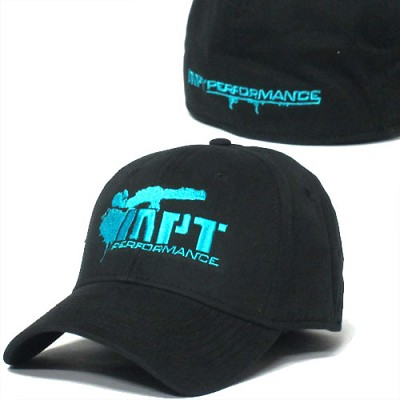 MorePowerTuning / MPT Performance Blue Bazooka Logo, Black Hat (Flex Fit)